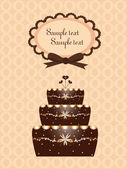 Fondo con pastel de chocolate — Vector de stock