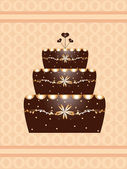 Chocolate cake background — Stock Vector