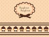 Chocolate cupcake design — Stock Vector