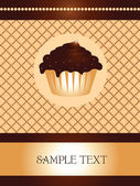 Wafer cupcake design — Stock Vector