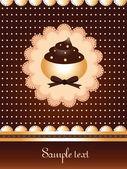 Dotted cupcake design — Vetor de Stock