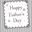 Happy father's day card — Vettoriale Stock