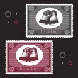 Baby postage stamps — Stock Vector