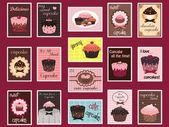 Cupcake posta pulları — Stok Vektör