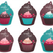 Stock Vector: Cupcake tags
