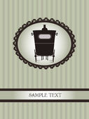 Vintage design with carriage — Stock Vector