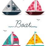 Cartoon boats — Stock Vector