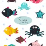 Sea animals — Stock Vector #3515742