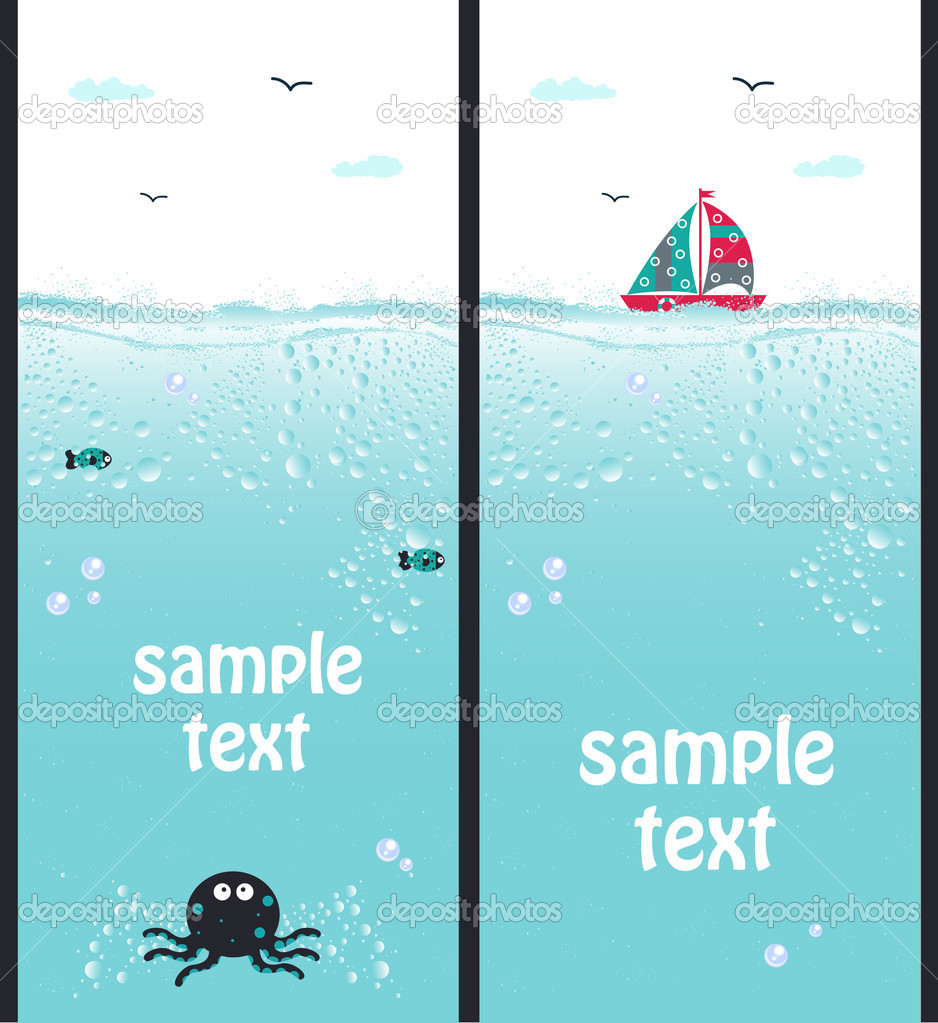 Vector illustration of sea banners   Stock Vector #3555665