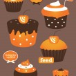 Rss feed cupcake icon — Stock vektor