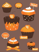 Rss feed cupcake icon — Stock Vector