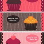 カップケーキのバナー — ストックベクタ
