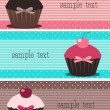 Cupcake banners — Stock Vector