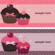 Cupcake banners — Stock Vector #3618814