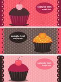 Cupcake πανό — Διανυσματικό Αρχείο