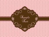 Cute vintage template — Stock Vector