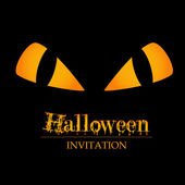 Invitation halloween — Vecteur
