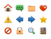 Clear icons | web — Stock Vector