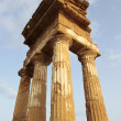 Antique greek temple in Agrigento, Sicil - Stock Photo