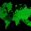 Three dimensional green world map — Stock Photo