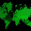Three dimensional green world map — Stock Photo #3203838