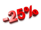 25% twenty five percent — Stockfoto