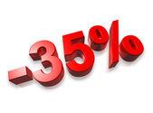 35% тридцать пять процентов — Стоковое фото