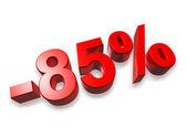 85% eighty five percent — Stock Photo