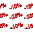 3D percent numbers - % — Foto de Stock   #3505966