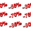 3D percent numbers - % — Foto de Stock