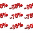 3D percent numbers - % — Stock fotografie