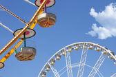 Ferris wheels in an amusement park — Stock Photo