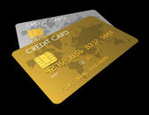 Gold and silver credit card — Stock Photo