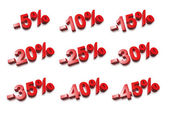3D percent numbers - % — Stock Photo
