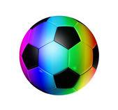 Gökkuşağı futbol futbol topu — Stok fotoğraf