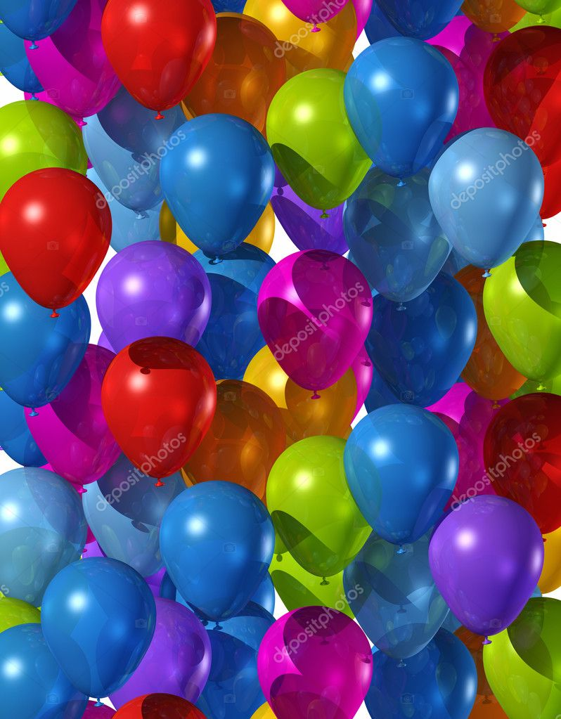 Background made of many colored air balloons — Stock Photo #3505722