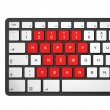 New year 2011 computer keyboard - Stock Photo