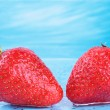 Stock Photo: Two delicious strawberries