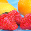 Assorted fresh fruit - rich in Vitamin C - Stock Photo