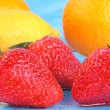 Stock Photo: Assorted fresh fruit - rich in Vitamin C