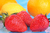 Assorted fresh fruit - rich in Vitamin C — Stock Photo