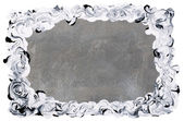 White-black frame painted on silver background — Stock Photo