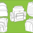Rucksacks collection - Imagen vectorial