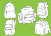 Rucksacks collection — Stock Vector