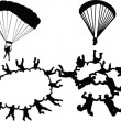 Skydiving colection - Stock Vector
