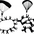Royalty-Free Stock Vector Image: Skydiving colection