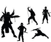 Ninjas collection — Stock Vector
