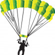 Parachutist — Stock Vector