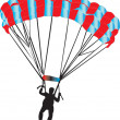 Paratrooper — Vector de stock #3478343