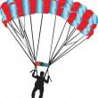 Paratrooper — Stock Vector
